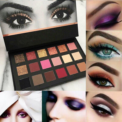 18 Colors Shimmer Matte Eyeshadow Eye Shadow Makeup Palette Glitter Cosmetic Kit