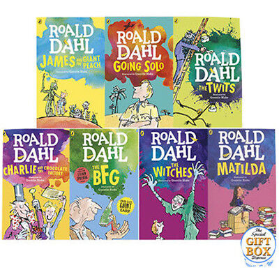 Roald Dahl Dahl Fiction Collection 7 Books Set Matilda Slipcase Going Solo NEW
