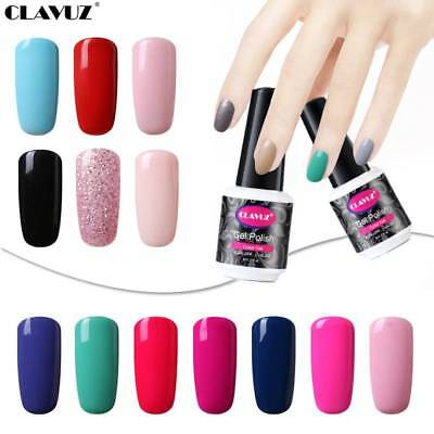 CLAVUZ UV LED Soak Off Top Base Coat Gel Nail Polish Varnish Manicure Lacquer UK