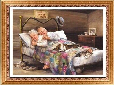 AU Old Man & Women Full Drill 5D Diamond Embroidery Painting Cross Stitch Kit HN