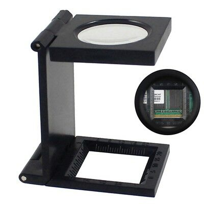 Hands Free Fold Magnifier with Scale Magnifying Glass Jewelry Loupe UK
