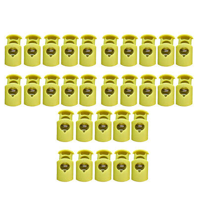 30x Single Hole Cord Stopper Locks Stop Ends for Backpack Paracord Shoelaces