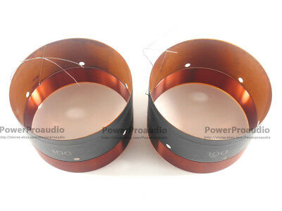 2PCS 100MM Audio Bass Speaker Voice Coil Subwoofer Woofer Sound In /out 2 Layers