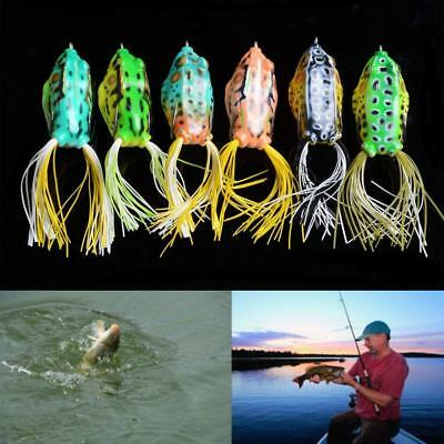 1Pc Cute Ray-frog Topwater Bait Fishing Lures Crankbait Sharp Hooks Bass Tackle.