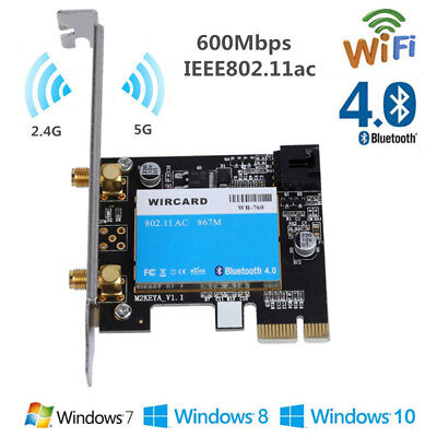For Intel 7260AC 600Mbps Dual-Band Bluetooth Wireless WiFi Network Card PCI-E