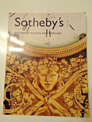 Sotheby`s Katalog important clocks and wates, Auktionskatalog june 2002