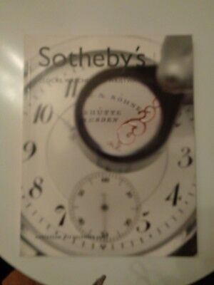 Sotheby`s Katalog  clocks, wates and wristwatches, Auktionskatalog november 2002