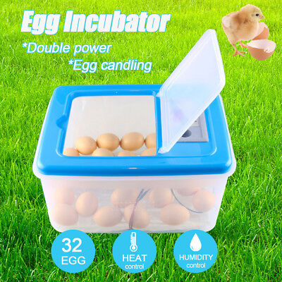 32 Eggs Automatic Egg Incubator Hatcher Digital Temperature Control Turning 220V