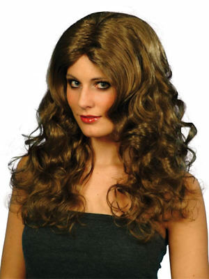Glamour Langhaar Party Perücke Locken 50cm