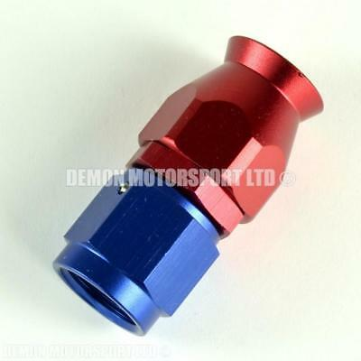 AN6 Straight Braided Hose Fitting (Red & Blue) for PTFE Teflon Lined Hose -6 6AN