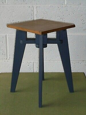 Antique Vintage French Painted Oak Side Lamp Table