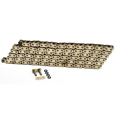Choho 525 x 112 Heavy Duty Gold/Gold X-Ring Motorcycle Drive Chain With Link