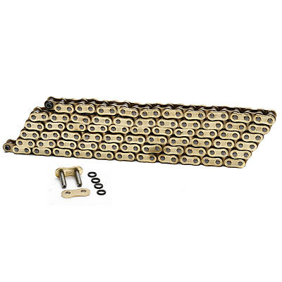 Choho 525 x 114 Heavy Duty Gold/Gold O-Ring Motorcycle Drive Chain With Link