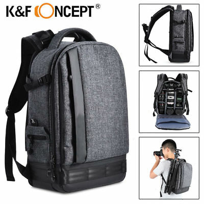 K&F Concept Camera Photo Backpack Bag Case Waterproof for Canon Nikon Sony DSLR