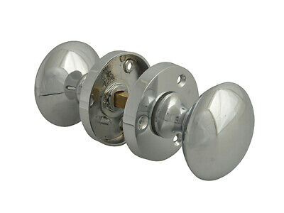 Forge Mortice Knob Set - Chrome Finish 53mm (2in)