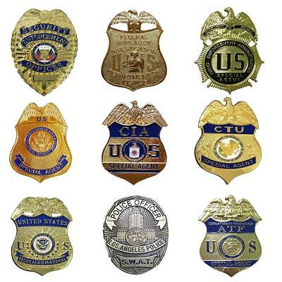 Prop Cosplay Security ATF Federal SWAT Special Agent Badge Clip Back Fun Play