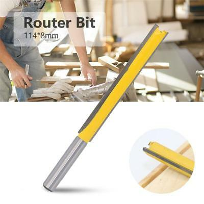 8mm Straight Shank Router Bit Extra Long Trim Tenon Woodwork Cutter Tool