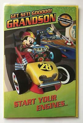 MICKEY ROADSTER RACERS PERSONALISED BIRTHDAY CARD ANY NAME AGE RELATION