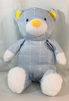 a2d056a62cbf1 The Manhattan Toy Company Pattern Plush Barrett Bear Teddy Target Blue Soft