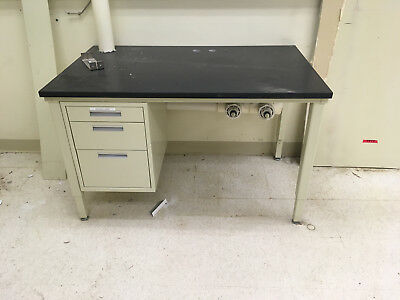 "Medium Laboratory Desk Table Epoxy Lab Casework Work Surface 48""x30""x30"""
