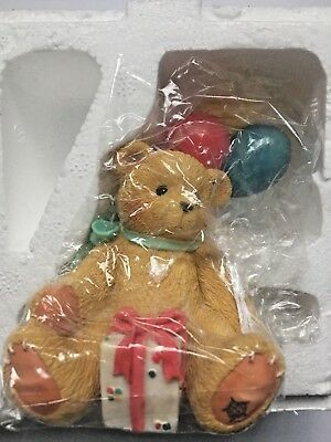 Enesco Cherished Teddies Nina - Beary Happy Wishes #215864.  NEW