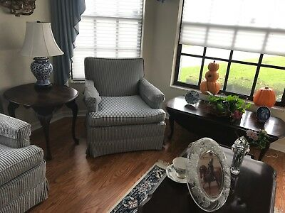 ETHAN ALLEN Georgian Court Cherry Coffee Table Drop Leaf & End Table LOT 2 TABLE
