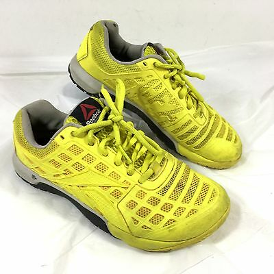 b805cfb8d5dace Women s Reebok Crossfit Athletic Cross training shoes CF-74 Yellow Sz 6 EUC