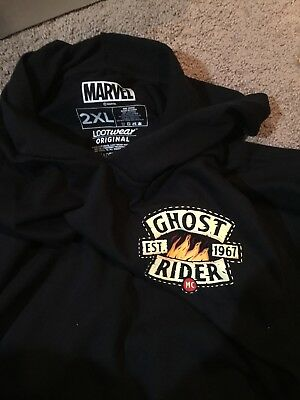 Marvel LOOT CRATE Ghost Rider 2XL Short Sleeve Hoodie GET IT FAST ~ US SHIPPER