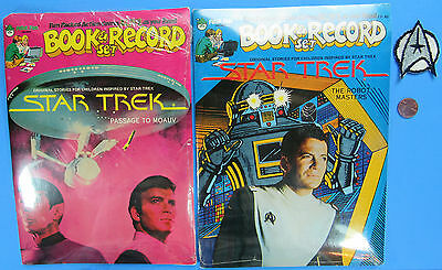 45 record & story book PAIR '79 vtg Star Trek PASSAGE TO MOAUV - MISP  - PATCH!