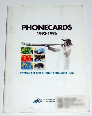 Catalogo Schede Telefoniche Estonia - Phonecards Catalogue Estonia