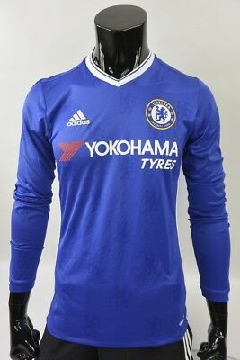 The Blues 2016-2017 adidas Chelsea FC Home Football LS Shirt SIZE S (adults)
