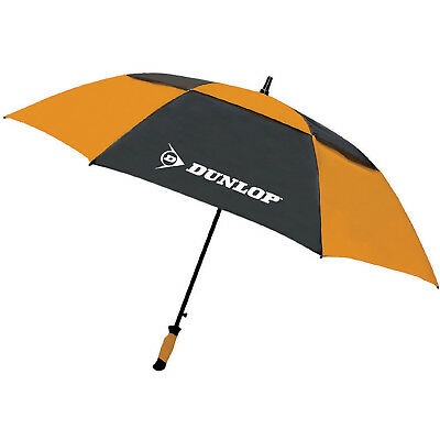 "Dunlop 60"" Double Canopy Folding 2 Person Golf Umbrella Windproof Vented"