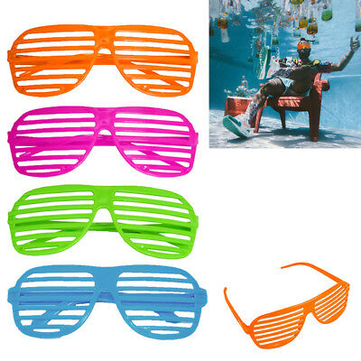 20 Pairs Sunglasses Shutter Shades Glasses Vintage Club Party Supplies Retro New