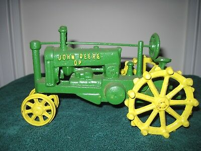Vintage John Deere DP Cast Iron Toy Farm Tractor NEVER PLAYED WITH