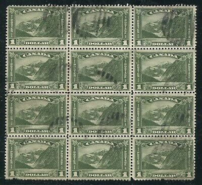 Canada #177 Used Block Of 12