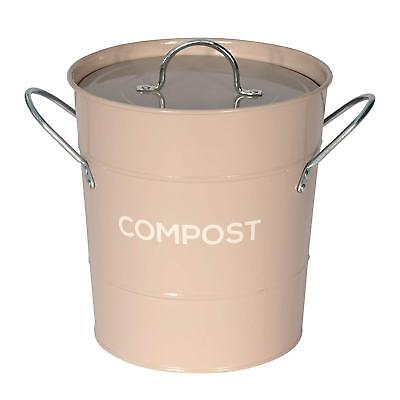 COMPOST CADDY COFFEE Cream Metal Kitchen Composting Bin For Food Waste With  Lid   EUR 23,54 | PicClick FR