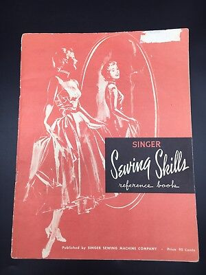 Singer Sewing Skills Reference Book Tips Techniques Stitches Vintage Ephemera 55