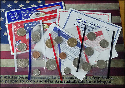 2003 US Mint UnCirculated P & D 20 Coins Set   FROM THE U.S. MINT - BINo