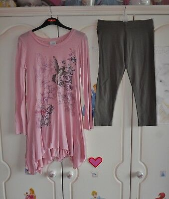 Girls 2 piece Top & Leggings Set, 8 years, Next.