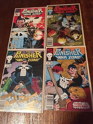 the punisher war zone #1 #2 #3 #4 marvel comics