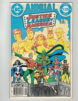 Justice League Of America Annual #2-1984-1St.app. Vibe, Gypsy & Steel!-F/vf