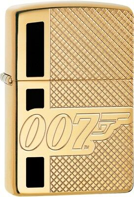 Zippo James Bond Deep Carve High Polished Brass Windproof Perfect Gift 29860 NEW