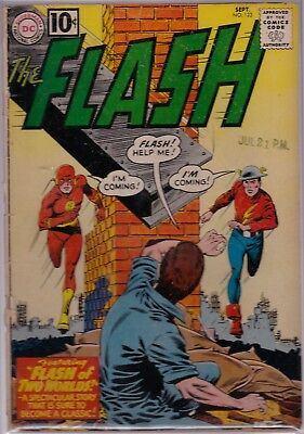 The Flash #123 1st Silver Age App of Golden Age Character Earth 2 FR/GD