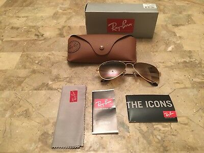 fc16c6c756d NEW Authentic Ray Ban Aviator Sunglasses RB3025 Polarized 58mm Gold Brown