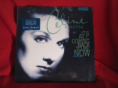 """Celine Dion It's All Coming Back To Me Now 12"""" Single Remixes Record 1996 SEALED"""
