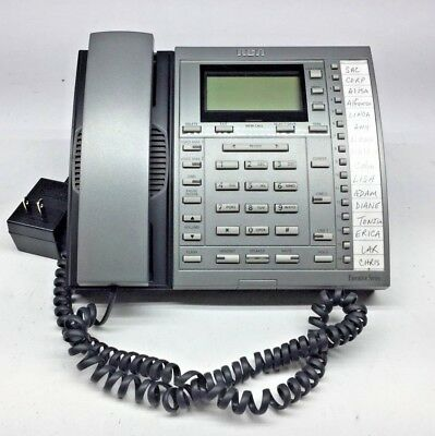 RCA 25202RE3-B Office Business 2-Line Telephone Phone W/ AC Adapter