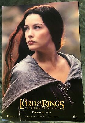 Lord Of The Rings Original Ds Double Sided Movie Poster Return Of The King Arwen