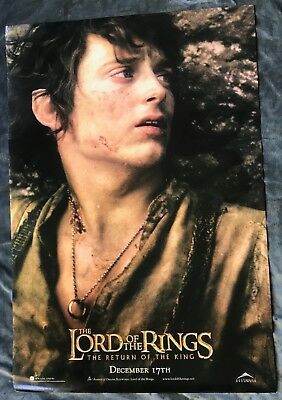 LORD OF THE RINGS ORIGINAL DS DOUBLE SIDED MOVIE POSTER LOTR ROTK Frodo Baggins