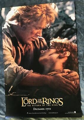 Lord Of The Rings Original (Ds) Double Sided Movie Poster Rotk Frodo & Samwise