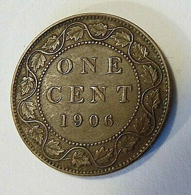 1906 CANADA LARGE CENT one 1 penny copper coin Edward VII